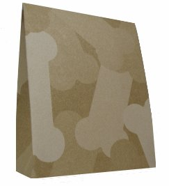 10 Dog Treat Cartons - Dog Bone Patterned Design - includes matching tags