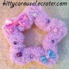 chocomint fluffy star clip lavender