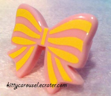 SALE angelic pretty party ribbon ring pink x yellow