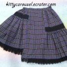 AATP plaid asymmetrical skirt purple