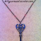 Angelic pretty heart key necklace silver