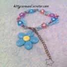 Misty morning flower bracelet blue x lavender