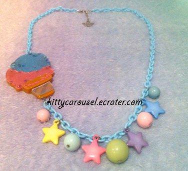 Angelic pretty milky planet ice cream necklace sax x pink