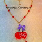 SALE Angelic pretty drained cherry necklace lavender