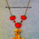 My little pony applejack chain necklace red x gold
