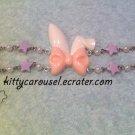 SALE Kitty Carousel bunny ear bracelet white x pink x lavender