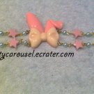 SALE Kitty Carousel bunny ear bracelet pink x cream x mint