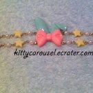 bunny ear bracelet mint x pink
