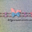 bunny ear bracelet pink x sax