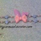 SALE Kitty Carousel  bunny ear bracelet lavender x pink