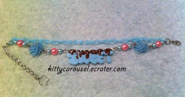 SALE Kitty Carousel Sweet icing bracelet mint x brown x pink
