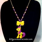 My little pony golden grape necklace yellow x purple