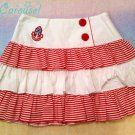 SALE Angelic pretty marine story striped skirt red x white