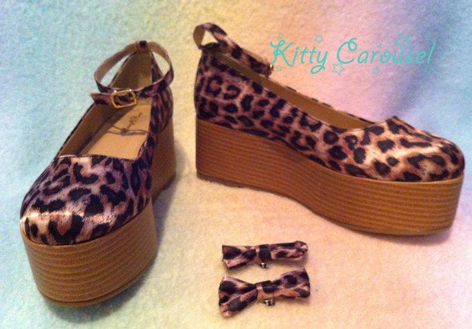 Dream V leopard flatforms