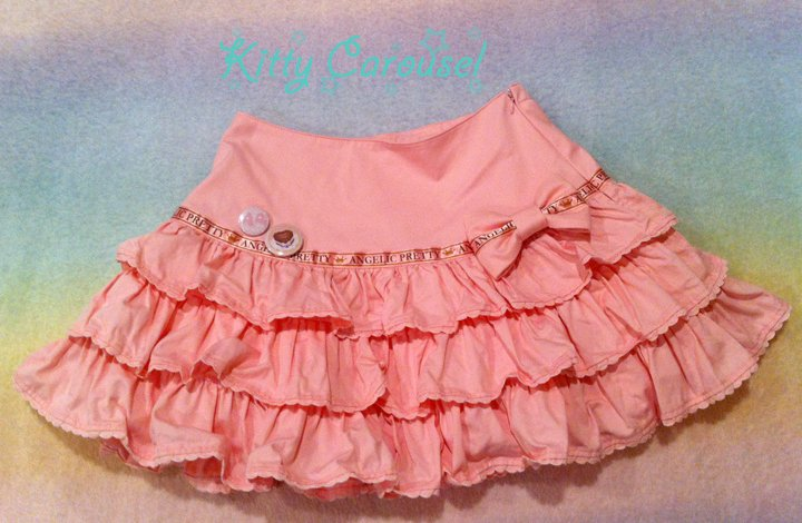 Angelic pretty Melty Chocolate Ribbon Skirt pink