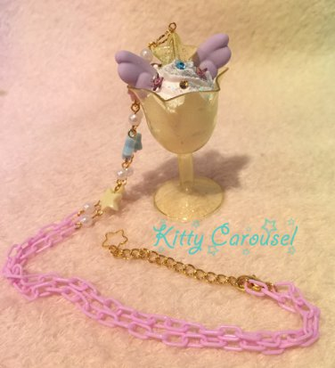 Kitty Carousel angel parfait necklace yellow