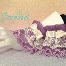 Kitty carousel Candy lace wrist cuffs lavender