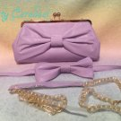 Angelic Pretty royal ribbon 3 way purse lavender