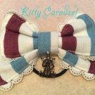 aatp Tricolour ribbon hair band light blue