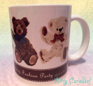 SALE Innocent world 15th anniversary teddy bear cup cream
