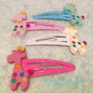 Giraffe hair clips mixed