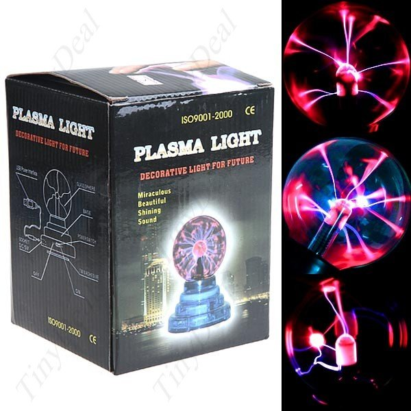 Magic Plasma Crystal Desktop Ball Decoration USB/ DC Powered Touch Light
