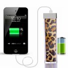 2200MAH 3.7V Universal Lipstick Design Portable Power Source Leopard Print