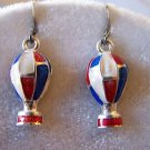 HOT AIR BALLOON EARRINGS IN UNLEADED ENAMEL & STERLING