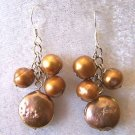 CHOCOLATE 6MM ROUND & COIN EARRINGS IN 925 STERLING