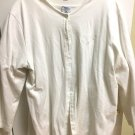 GENTLY USED TWO PIECE WHITE SWEATER SET W/ HENDRICK HONDA LOGO BY PORT AUTHORITY