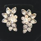 """CLASSIC CLEAR CRYSTAL & SILVERPLATE CASCADE EARRINGS - 1 1/8"""" LONG FREE SHIPPING"""
