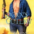 LOGAN'S OUTLAW BY ELAINE LEVINE - MEN OF DEFIANCE SERIES - SOFT COVER-FREE SHIP