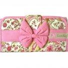 NaRaYa Thai Cotton Trifold Wallet Clutch Bag Purse Checkbook / Vintage Light Pink