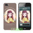 Apple iPhone 5/5S Hard Case Cover Skin Shell : Flowers And Beauty Girl Collection / Brown Sugar