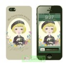 Apple iPhone 5/5S Hard Case Cover Skin Shell : Flowers And Beauty Girl Collection / Light Gray