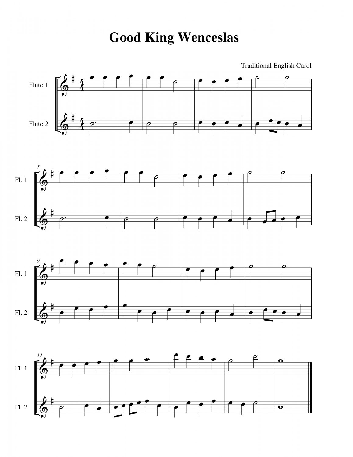 good king wenceslas sheet music pdf