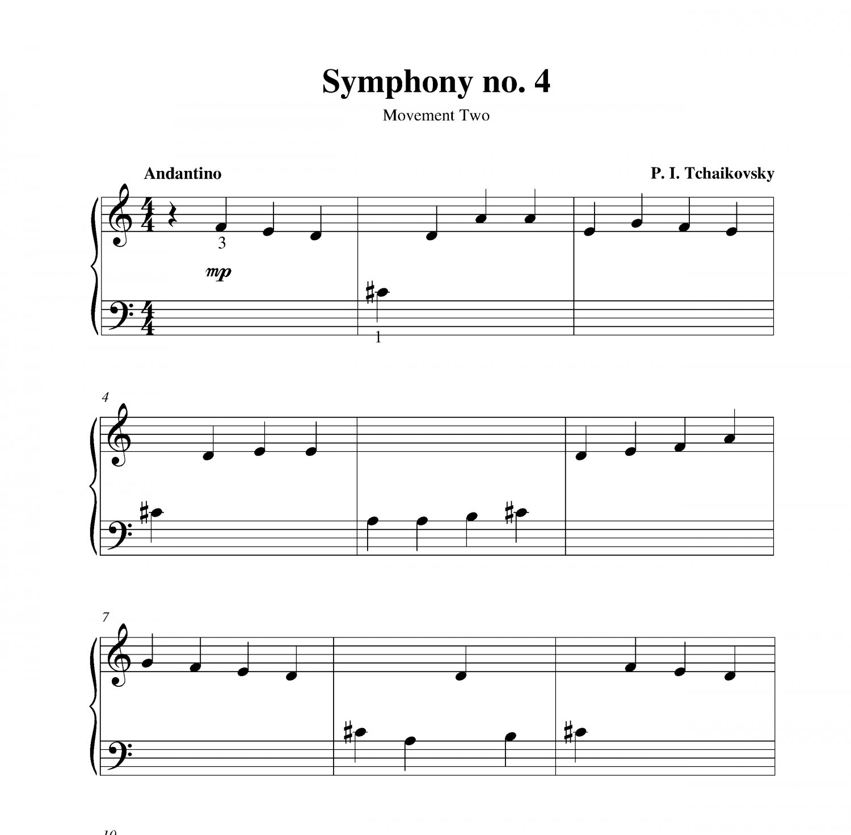 Nessun Dorma Lyrics Sheet Music: Symphony No. 4