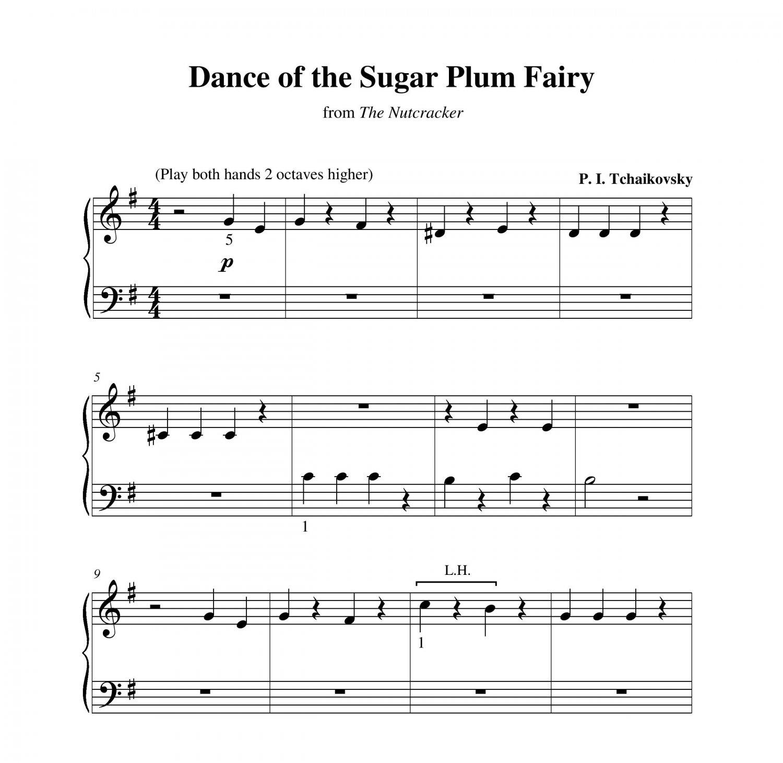 Nessun Dorma Lyrics Sheet Music: Dance Of The Sugar Plum Fairy