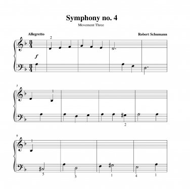 Schumann - Symphony no. 4