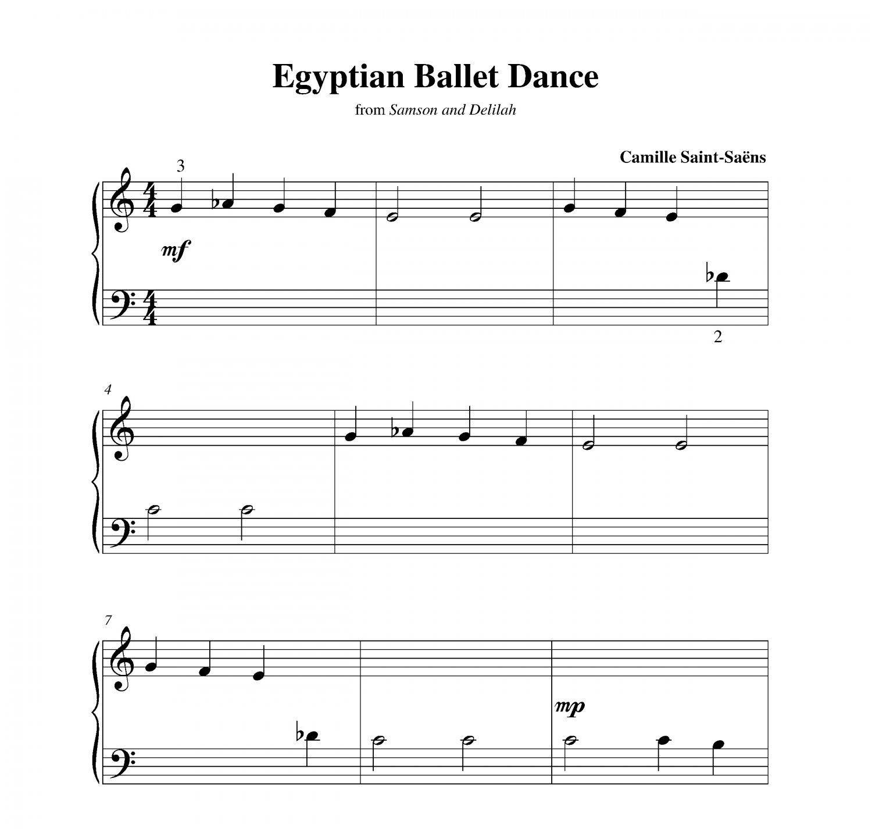 Nessun Dorma Lyrics Sheet Music: Egyptian Ballet Dance
