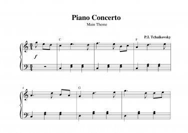 Tchaikovsky - Piano Concerto Theme