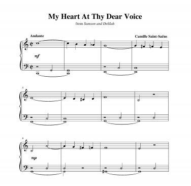 Saint-Saëns - My Heart At Thy Dear Voice