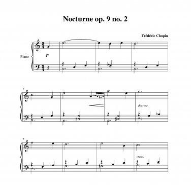 Chopin - Nocturne op. 9 no. 2 (late beginner)