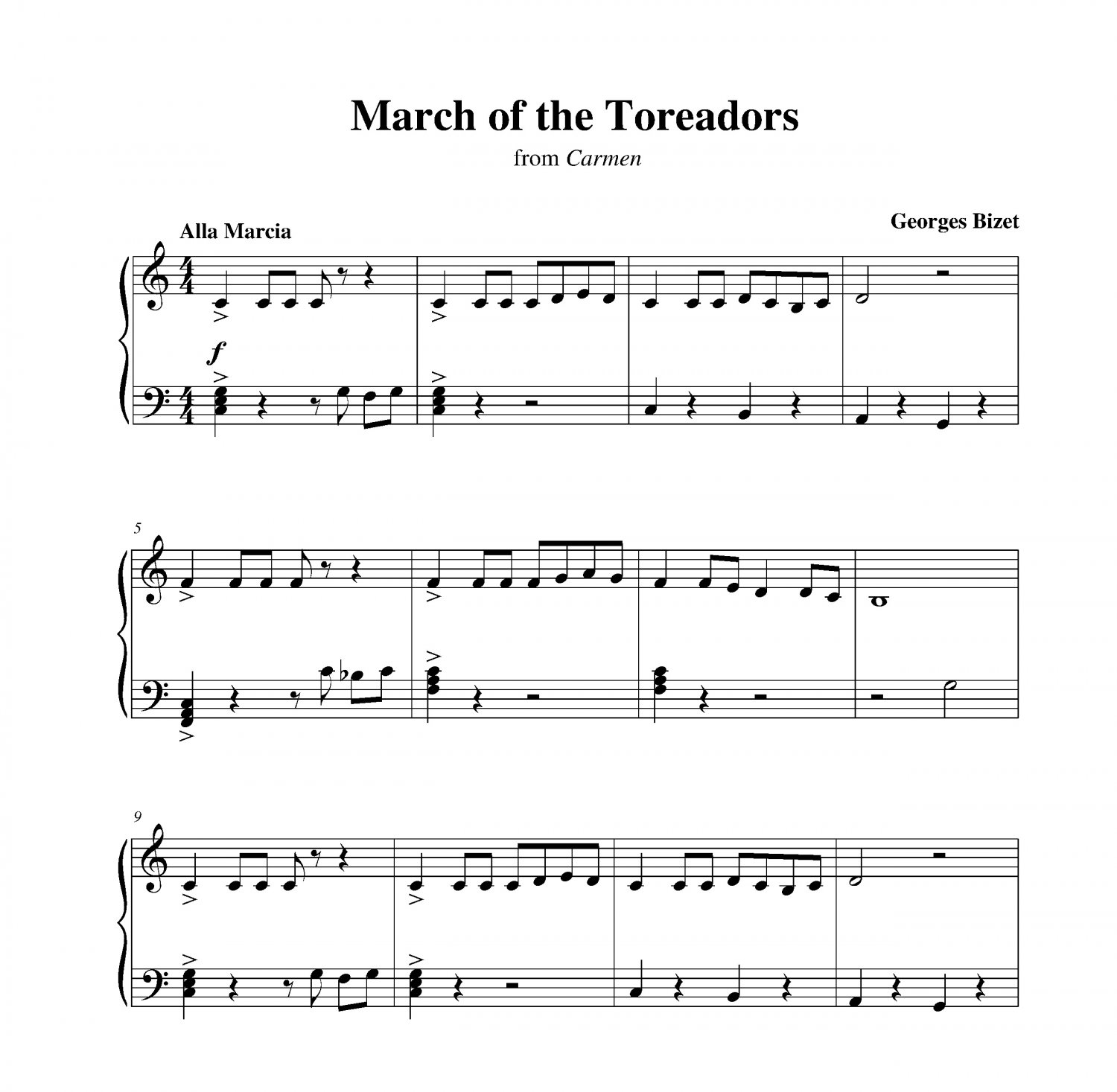 March Of The Toreadors