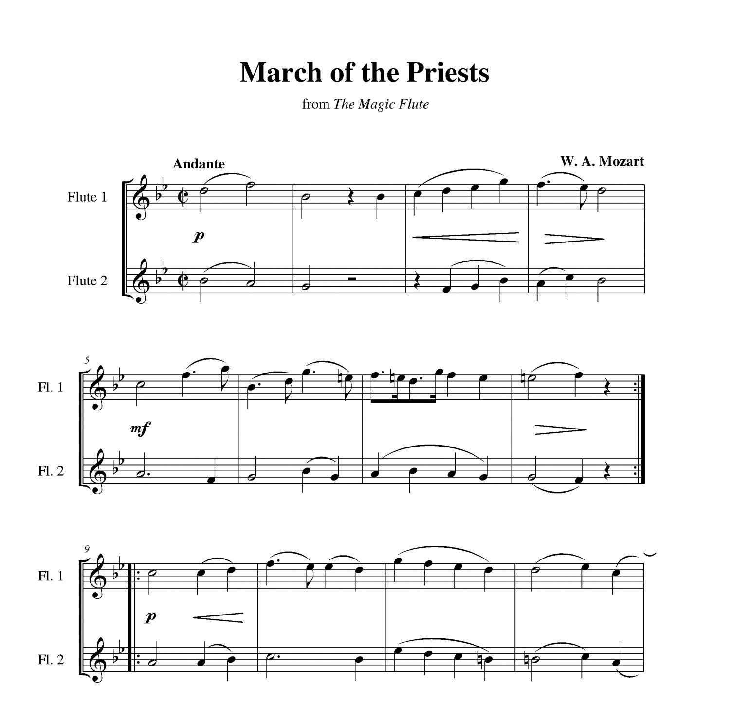 Mozart - March of the Priests