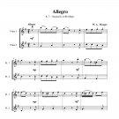 Mozart - Allegro K. 3