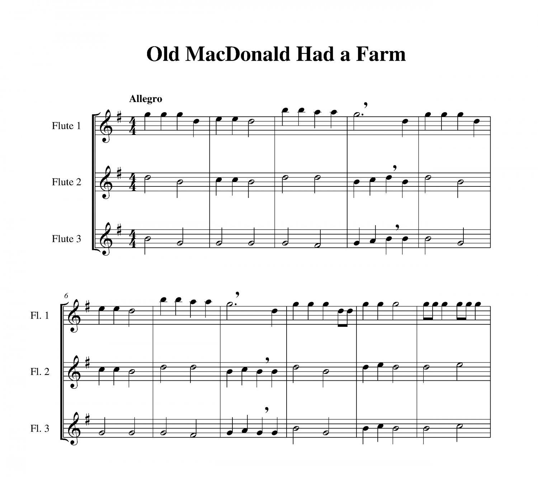 Free Christmas Piano Sheet Music Notes Once In Royal: Old MacDonald Had A Farm