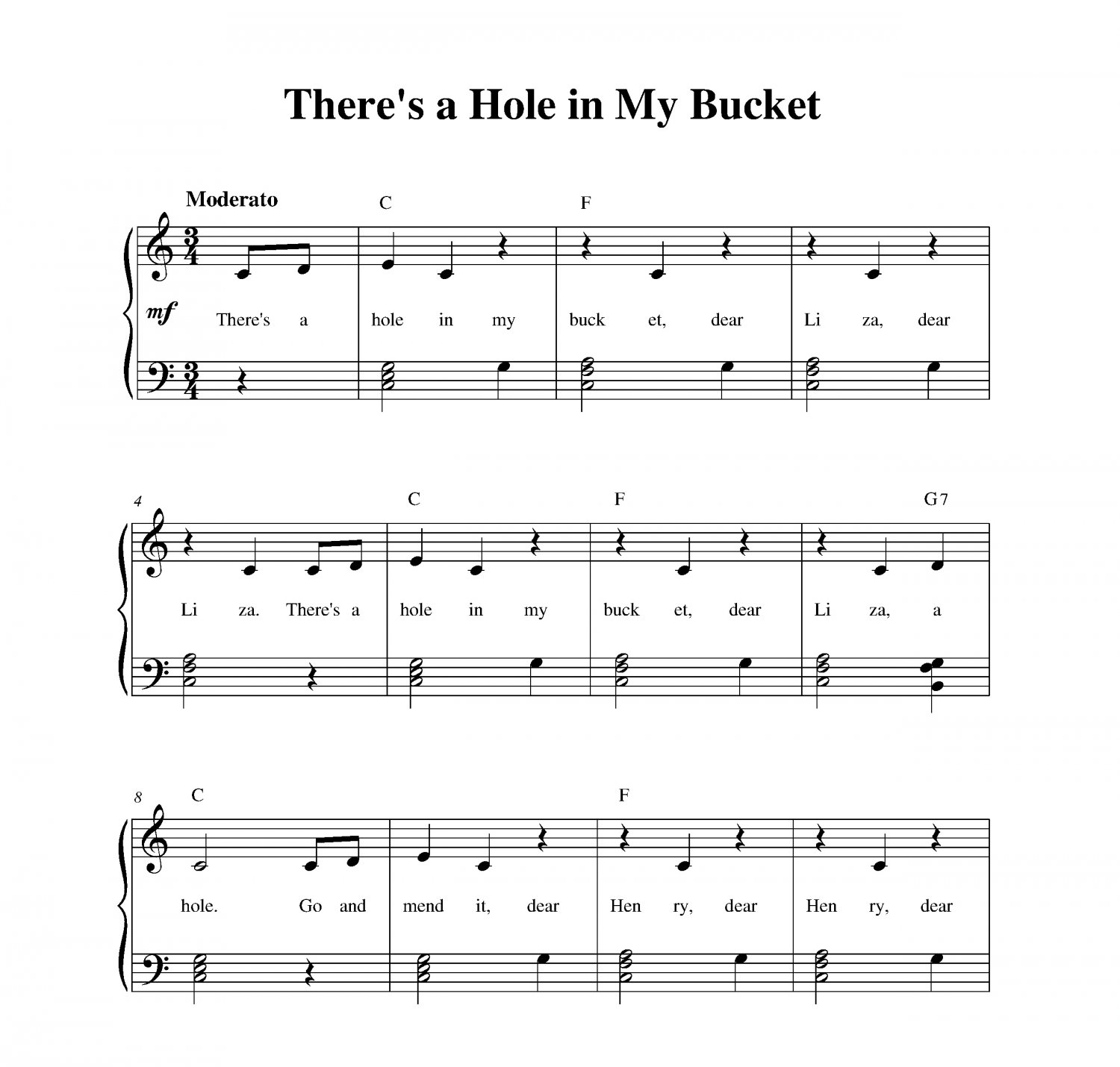 There�s a Hole in My Bucket