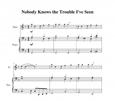Nobody Knows the Trouble I�ve Seen