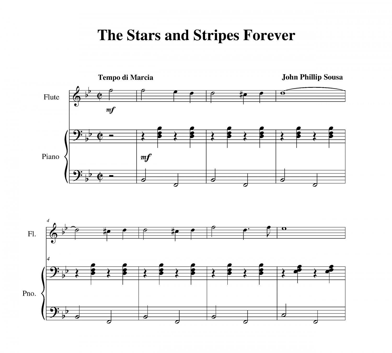 Nessun Dorma Lyrics Sheet Music: The Stars And Stripes Forever